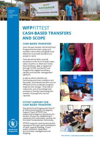 2019 WFPFITTEST - Cash-based transfers and SCOPE   World Food Programme