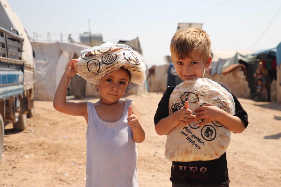 Two Syrian kids