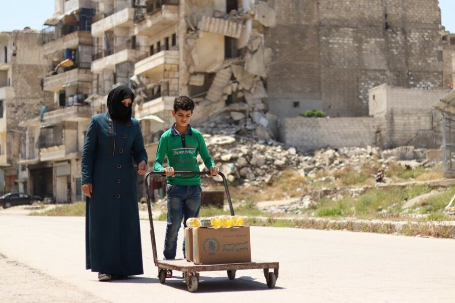 Life in Aleppo is still a challenge for families who have lived through the conflict. Photo: WFP/Photo Library