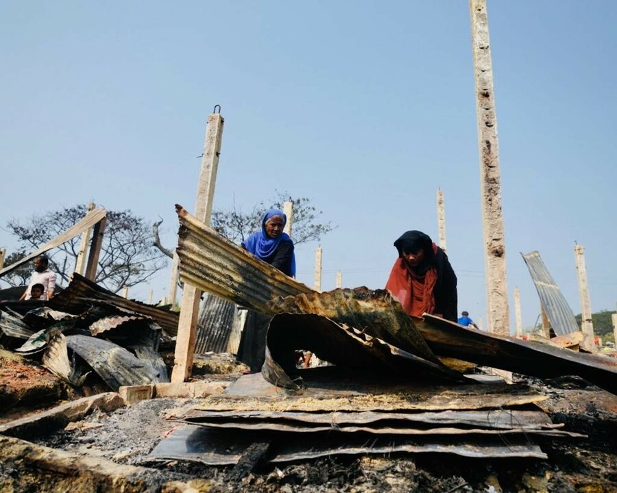 Aftermath of Cox's Bazar fire