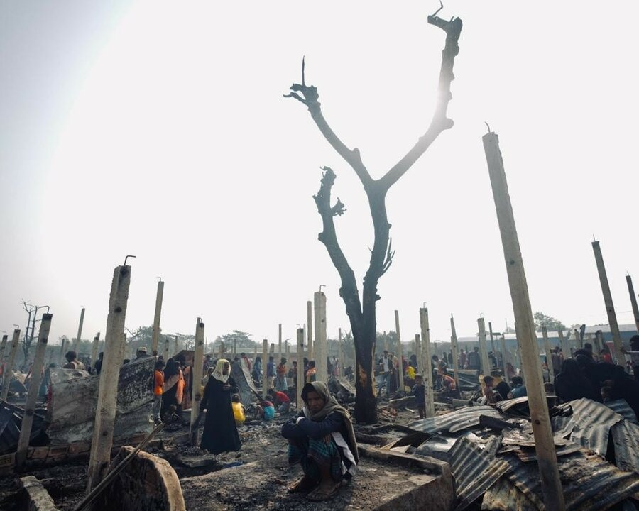 Aftermath of Cox Bazar fire