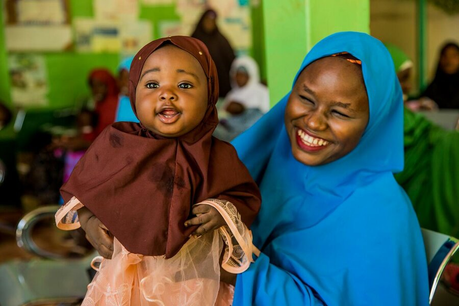 Child with mother in Nigeria