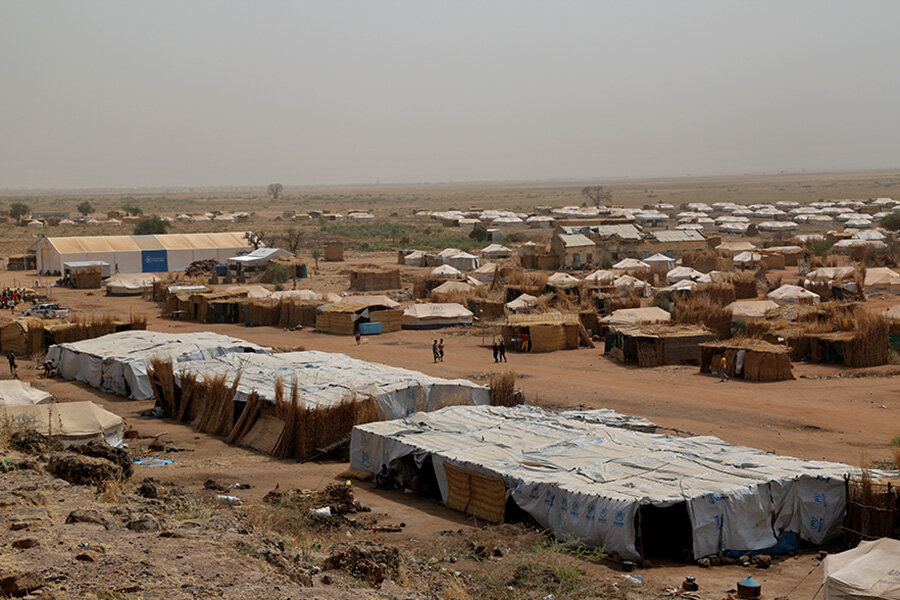 A general view of the Um Rakuba Refugee Camp in eastern Sudan