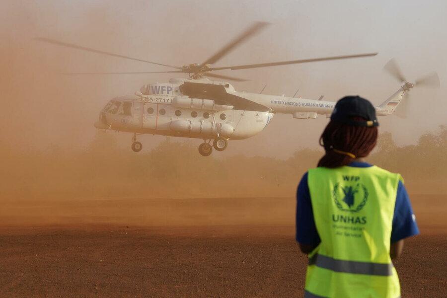 WFP chopper in Burkina Faso