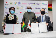 Japan and WFP support public-private partnership for improved health and nutrition in Ghana