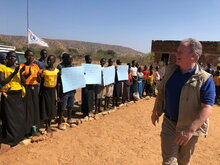 WFP Executive Director with Sudan Prime Minister on historic visit to the Nuba Mountains in South Kordofan