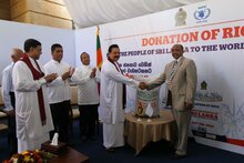 Sri Lanka Donates Rice To WFP Operations  At Home And Abroad