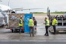 COVID-19:  Humanitarian air deliveries to Africa ramped up with dispatch from UN's new cargo hub in Belgium