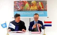 Photo: WFP/ Photogallery, Kingdom of Netherlands and WFP sign a new funding agreement.