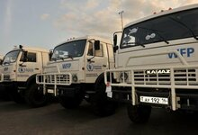 Russia's Kamaz trucks support WFP operations in East and Central Africa