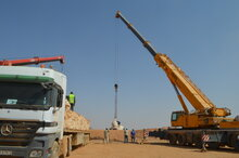 Cranes Deliver Life-Saving Assistance To Syrians Stranded At Jordanian Border Areas