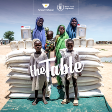 Invite a family to your table:  WFP's ShareTheMeal app links monthly givers to the families they support
