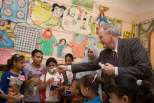 EU & WFP Visit Ground-Breaking School Feeding Project To Stop Child Labour In Egypt