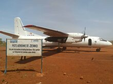 A plane in Zemio, in the east of the Central African Republic