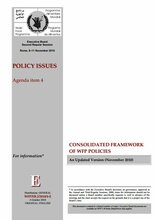 Consolidated Framework of WFP Policies