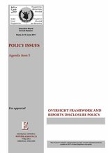 Oversight Framework and Reports Disclosure Policy