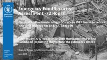 Haiti - 72- hours Emergency Food Security Assessment: Case study: 2017 experience with Hurricane Irma in the Caribbean (reporting estimates before the shock strikes), June 2018