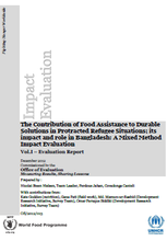 Food Assistance in Protracted Refugee Situations in Bangladesh: A Joint Mixed Method Impact Evaluation.