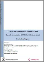 Burundi: An evaulation of WFP's Portfolio (2011-2015)
