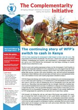 The Complementarity Initiative - The continuing story of WFP's switch to cash in Kenya (July-Sept 2015)