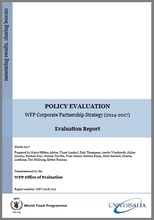 Evaluation of the WFP Corporate Partnership Strategy (2014-2017)