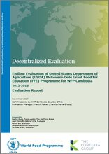 Cambodia, United States Department of Agriculture (USDA) McGovern-Dole Grant Food for Education Programme: An Endline Evaluation