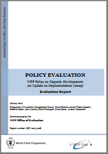 Evaluation of the WFP Policy on Capacity Development (2009)