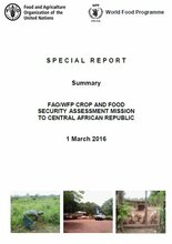 Central African Republic - FAO/WFP Crop and Food Security Assessment Mission, March 2016