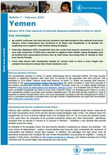 Yemen - mVAM Bulletin #7: Food insecurity of internally displaced households is worst on record, February 2016