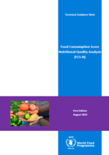 Food Consumption Score Nutritional Quality Analysis (FCS-N) - Technical Guidance Note