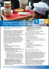 Fast Facts: WFP's Approach Towards South-South And Triangular Cooperation