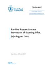 Zimbabwe - Mutasa: Prevention of Stunting Pilot, October 2014