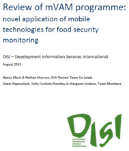 Review of mVAM programme: novel application of mobile technologies for food security monitoring, August 2015