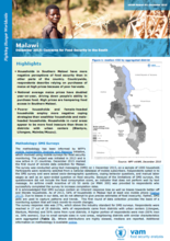Malawi - Bulletin #1: Concerns for Food Security in the South, December 2015