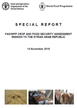 Syrian Arab Republic - FAO/WFP Crop and Food Security Assessment Mission, November 2016