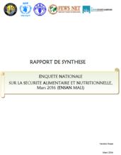 Mali - Enquete nationale sur la securite alimentaire et nutritionnelle (ENSAN), March 2016