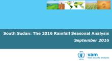 South Sudan - The 2016 Rainfall Season