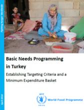 Turkey - Basic Needs Programming in Turkey: Establishing Targeting Criteria and a Minimum Expenditure Basket, April 2016