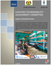 Lesotho - Market Assessment: Vulnerability Assessment Committee, March 2016