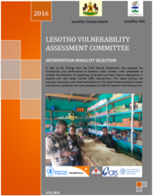 Lesotho - Intervention Modality Selection: Vulnerability Assessment Committee, March 2016