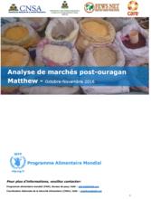 Haiti - Analyse de marchés post-ouragan Matthew, December 2016