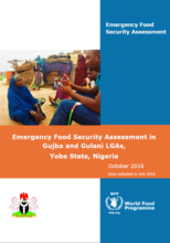 Nigeria - Emergency Food Security Assessment in Gujba and Gulani LGAs, Yobe State, Nigeria, October 2016