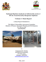 Malawi - National Market Analysis to Inform the 2016/17 MVAC Food Security Response Options, July 2016