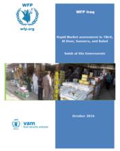 Iraq - Rapid Market assessment in Tikrit, Al Door, Samarra, and Balad: Salah al-Din Governorate, October 2016