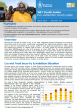 South Sudan - Food and Nutrition Security Update, 2016
