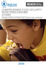 Jordan - Comprehensive Food Security Monitoring Exercise (CFSME): Registered Syrian Refugees in Jordan, 2016