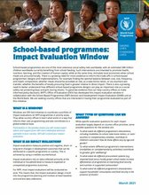 School-based Programmes Impact Evaluation Window: Brief and Concept note