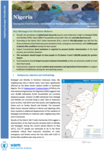 Nigeria - Emergency Food Security Assessment in Madagali and Michika, Adamawa State, April 2017
