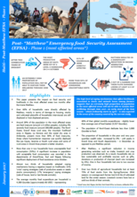 "Haiti - Post - ""Matthew"" Emergency Food Security Assessment (EFSA) - Phase 1 (most affected areas), January 2017"
