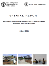 South Sudan - FAO/WFP Crop and Food Security Assessment Mission, April 2016